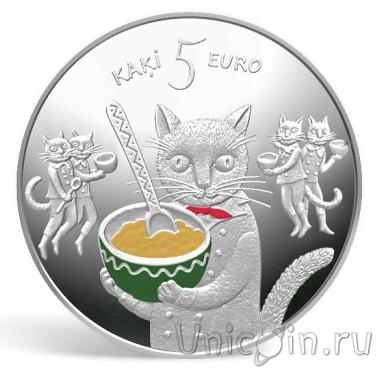 5 котов монета латвия
